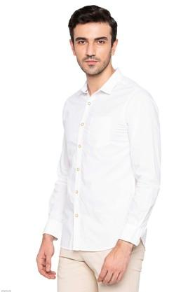 LIFE - White Casual Shirts - 2
