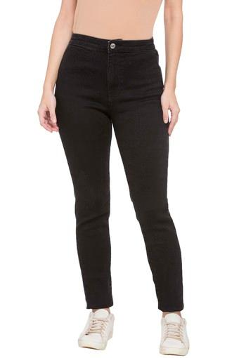 Womens 2 Pocket Coated Jeans