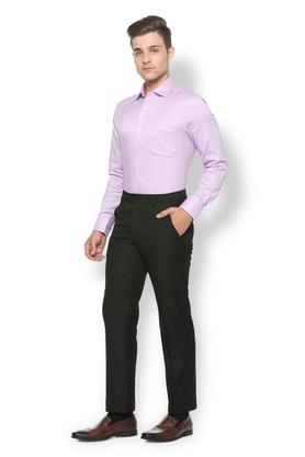 Mens 4 Pocket Regular Fit Solid Formal Trousers