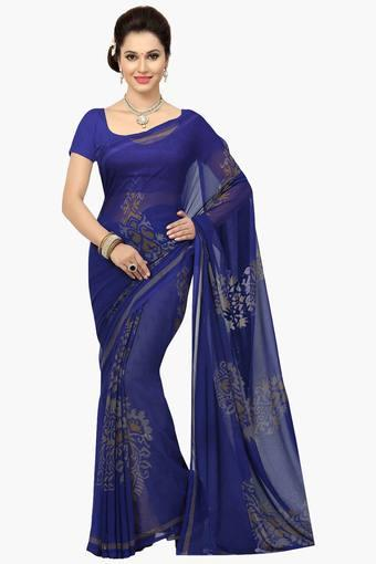 Womens Faux Georgette Printed Saree