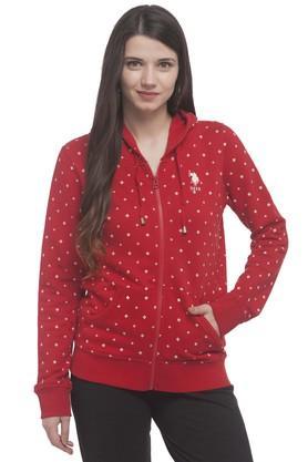U.S. POLO ASSN.Womens Hooded Printed Sweatshirt