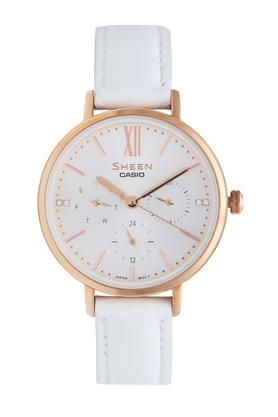 Womens Leather Multi-Function Watch - SX232