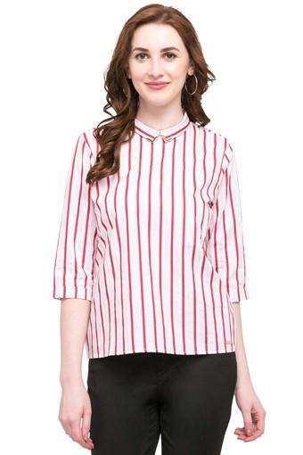 Womens Collared Stripe Shirt