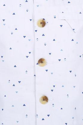 Boys Band Collar Printed Jacket