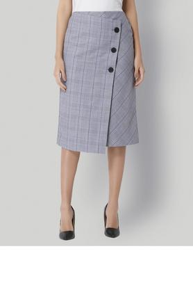 VERO MODA Womens Check Wrap Skirt - 203835683_9212