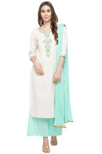 STOP -  Off WhiteSalwar & Churidar Suits - Main