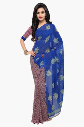 DEMARCA Womens Faux Georgette Printed Saree - 203229600