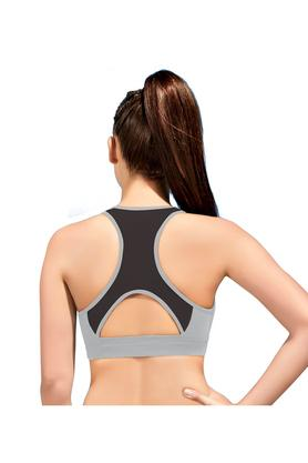 Medium Impact Sports Bra - Racer Back Removable Pads Wirefree
