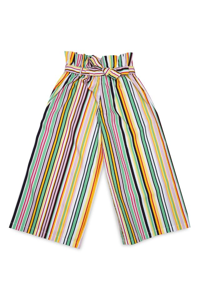 Girls Striped Casual Pants