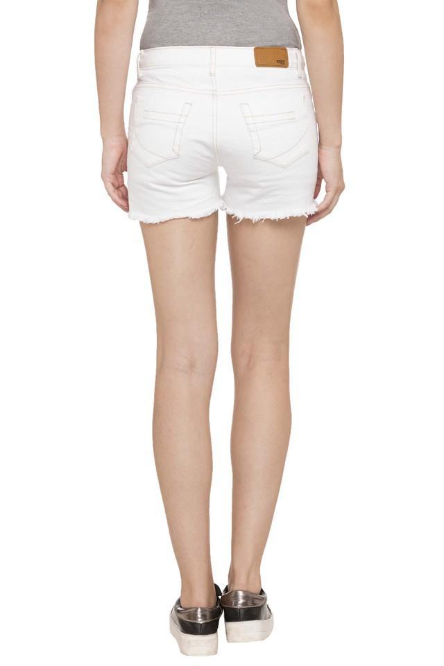 Womens 5 Pockets Solid Shorts