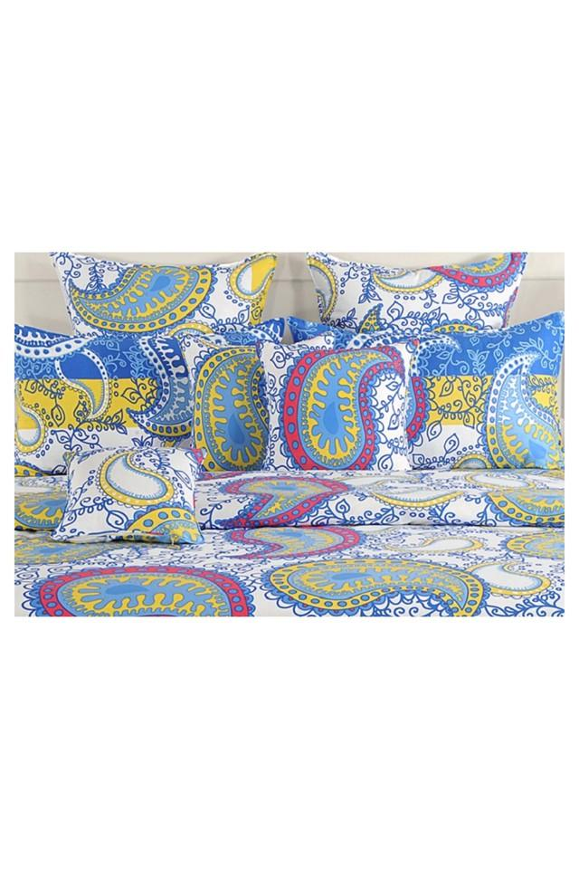 Printed Double Bed Sheet Comforter and Pillow Covers Set