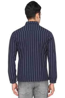 Womens Collared Stripe Jacket