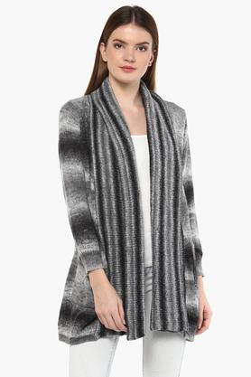 ONER Womens V Neck Printed Cardigan - 204749297_9212