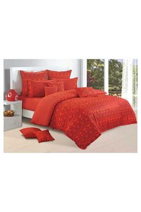 SWAYAMPrinted Double Bed Sheet, Comforter And Pillow Covers Set - 204584206_9508