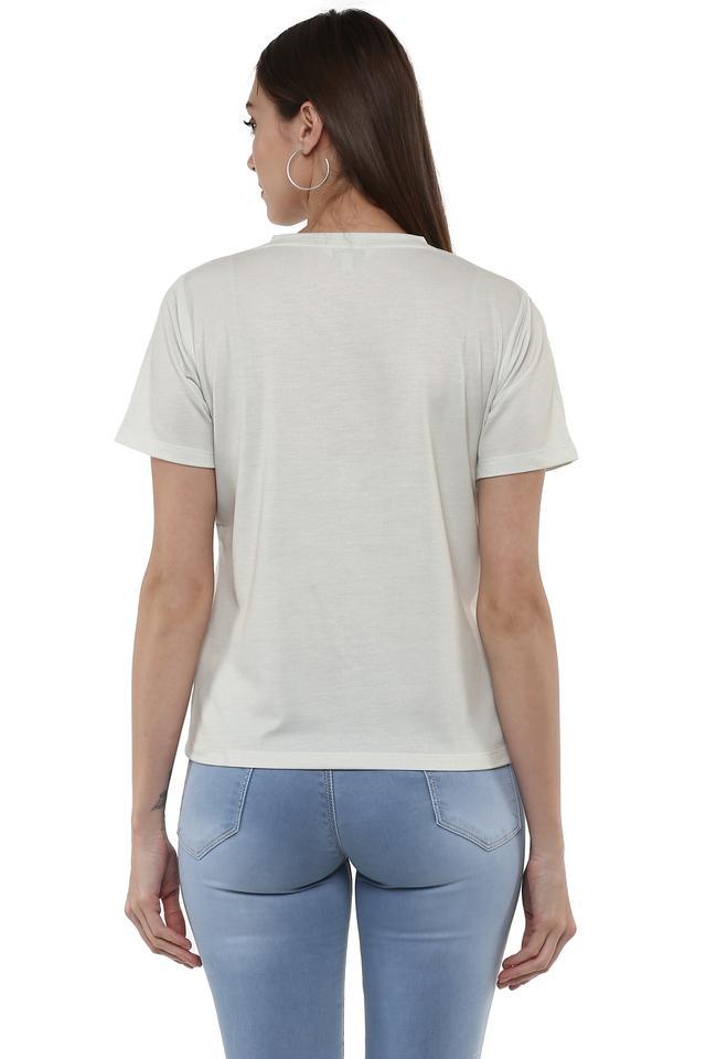 Womens V-Neck Printed Sweatshirt