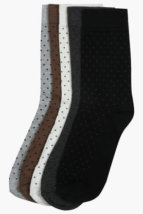 STOP Mens Printed Full Length Socks - Pack Of 5
