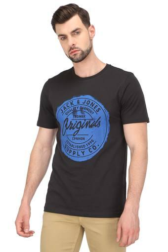 JACK AND JONES -  Brown T-shirts - Main