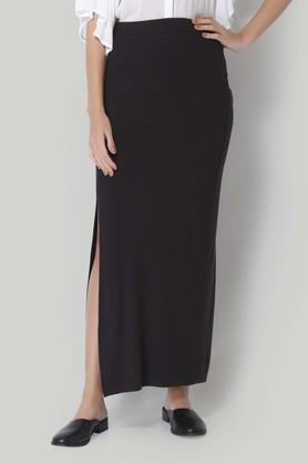 VERO MODA Womens Solid Casual Long Skirt