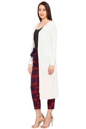 Womens Open Front Solid Long Shrug