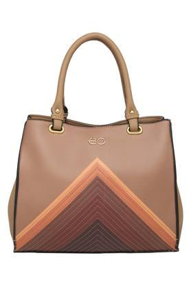 E2O Womens Zipper Closure Satchel Handbag - 204276838_9124