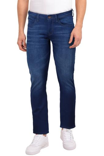 Mens 4 Pocket Whiskered Effect Jeans