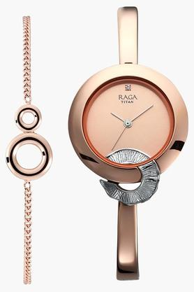 Raga Espana Rose Gold Dial Metal Strap Watch - 95051KM03F