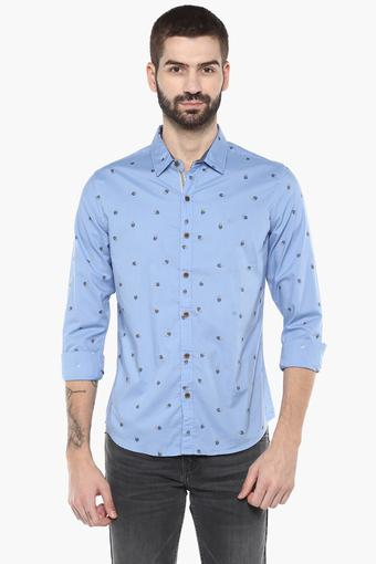 UNITED COLORS OF BENETTON -  Sky Blue Shirts - Main
