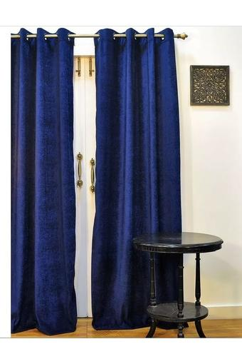 Monochrome Slub Door Curtain