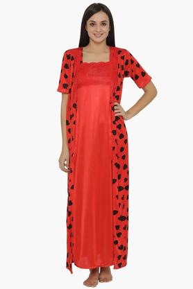 Womens Full Length Night Gown & Robe