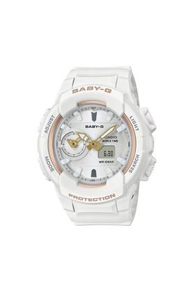 Womens Silver Dial Analogue-Digital Watch