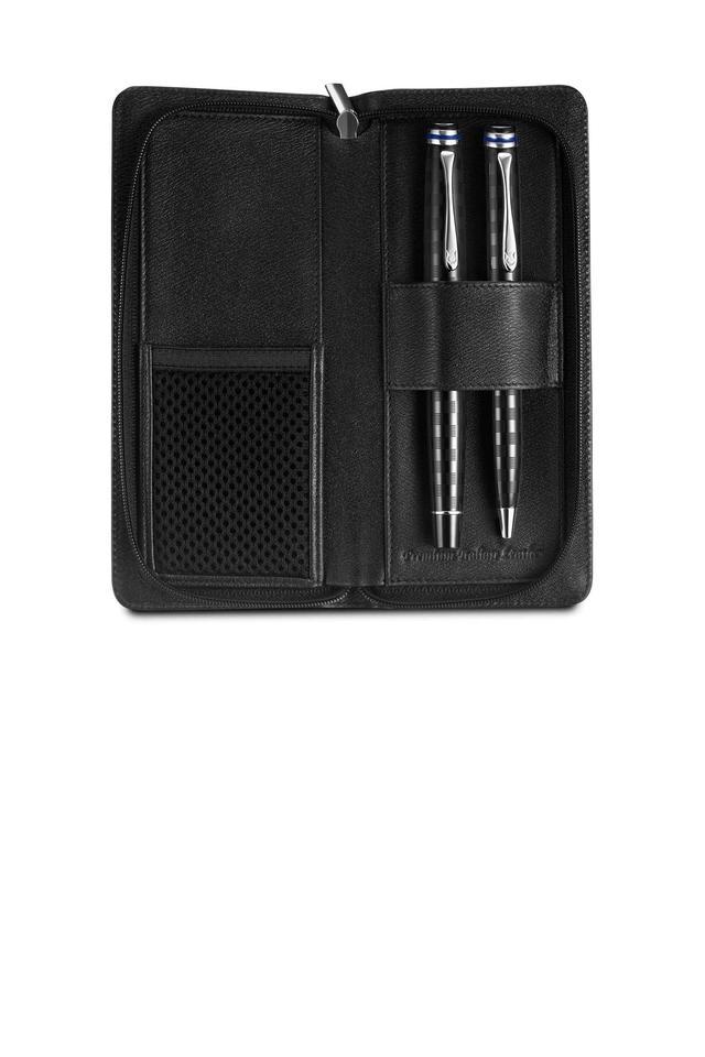 Zipper Closure 1 Fold 2 Pen Case