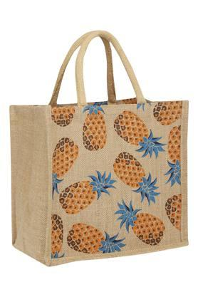 BACK TO EARTH Unisex Printed Jute Bag - 202425898_9112