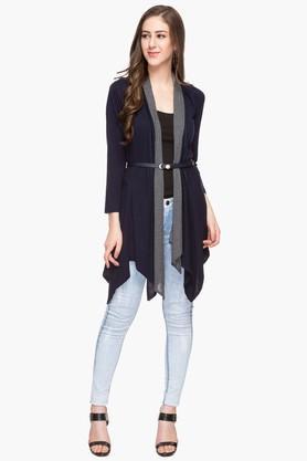APSLEYWomens Open Neck Solid Asymmetrical Cardigan