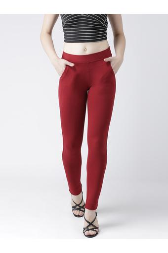 DEVIS -  Maroon Jeans & Jeggings - Main