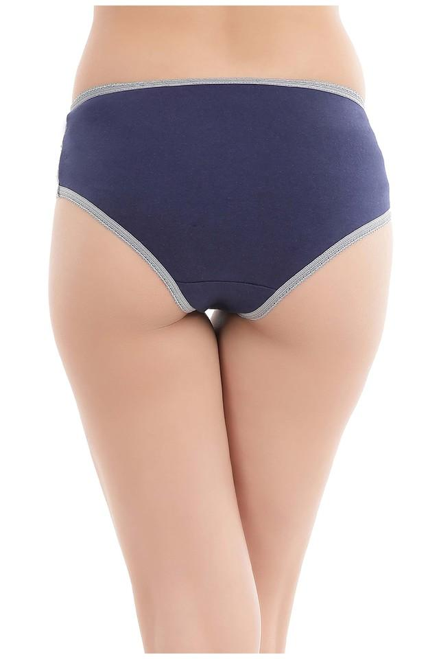 Womens Mid Waist Lace Hipster Briefs