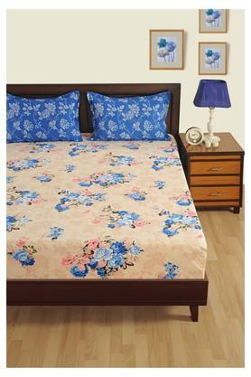 Floral Double Bed Sheet with 2 Pillow Covers