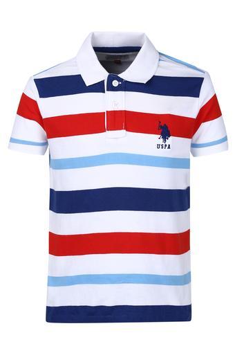ec19e17e1 Buy U.S. POLO ASSN. Boys Stripe Polo Tee | Shoppers Stop