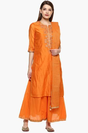 BIBA -  OrangeSalwar & Churidar Suits - Main