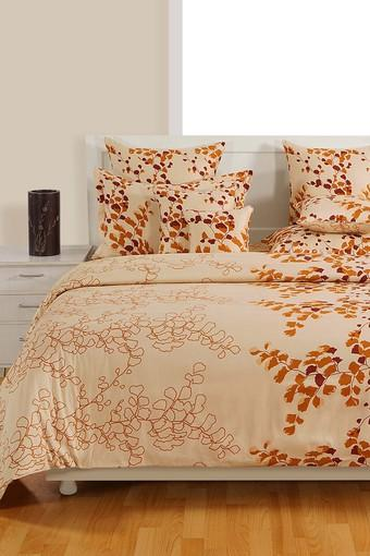Floral Double Fitted Bed Sheet with 2 Pillow Covers