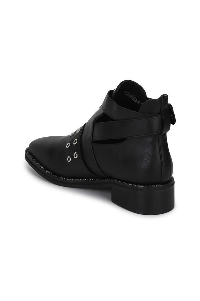 Womens Casual Wear Buckle Closure Ankle Boots