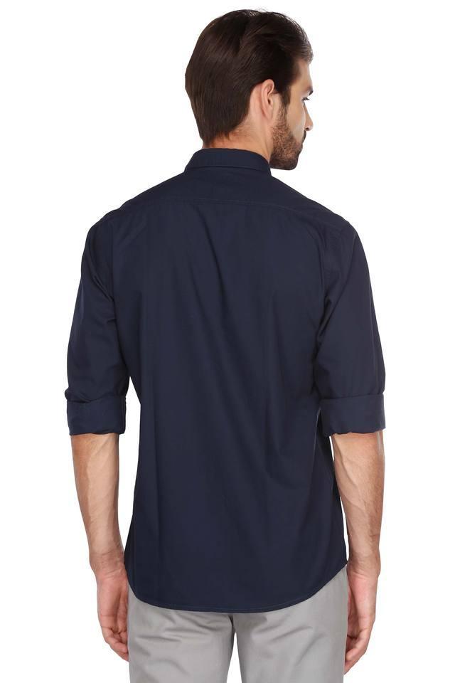 Mens Button Down Collar Solid Shirt
