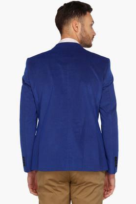 Mens Slim Fit Notched Lapel Textured Blazer