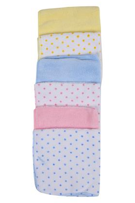 Unisex Polka dots and Solid Handkerchief - Pack of 6