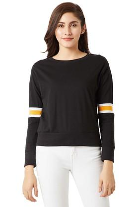 MISS CHASE Womens Round Neck Solid Sweatshirt - 204752991_9212