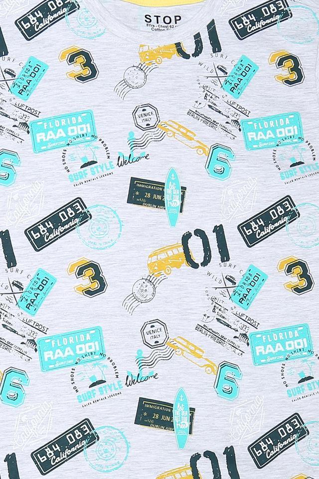 Boys Round Neck Graphic Print Tee