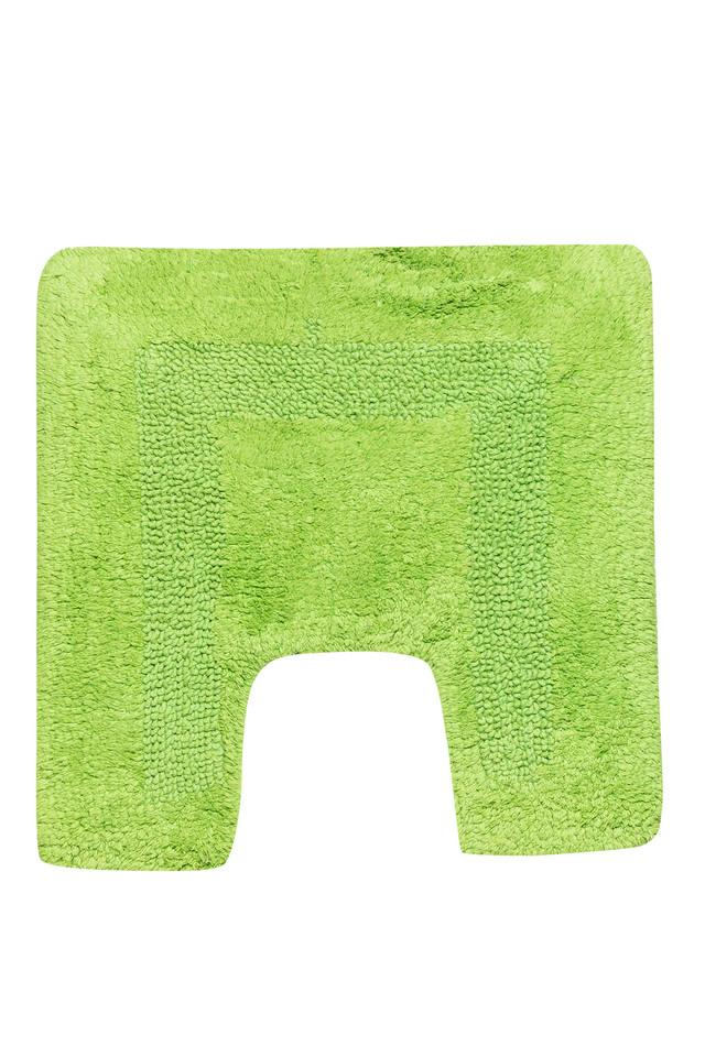 Solid Textured Rectangular Bath Mat Set of 2