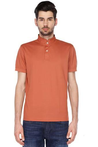 793885858c218b Buy TOMMY HILFIGER Mens High Neck Solid T-Shirt | Shoppers Stop