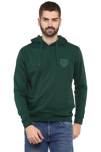 Mens Hooded Neck Solid Sweatshirt