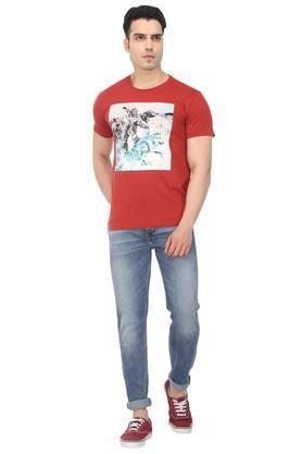 Mens 4 Pocket Whiskered Effect Jeans (512)