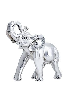 SHAZE Unisex Silver Plated Elephant Art Accessories